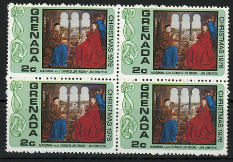Madonna of Chancellor Rolin Jan Van Eyck Art Block of 4 Stamps MNH