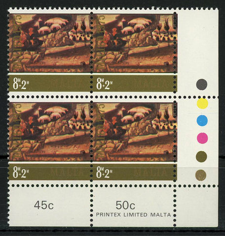 Malta Painting Mural Animals Landscape Art Block of 4 Stamps MNH