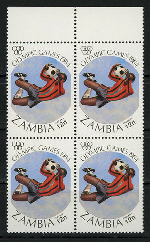 Olympic Games Soccer Football Sports Block of 4 Stamps MNH