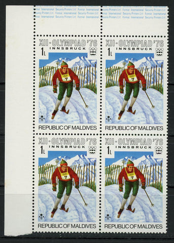 Olympic Games Innsbruck Sports 1976 Block of 4 Stamps MNH