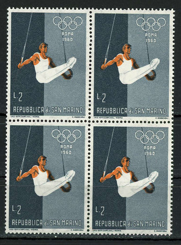 Olympic Games Roma 1960 Gymnastics Sports Block of 4 Stamps MNH