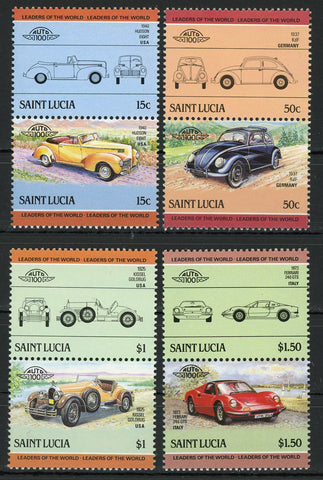 Motor Vehicle Hudson Ferrari Kissel Serie Set of 4 Blocks of 2 Stamps MNH