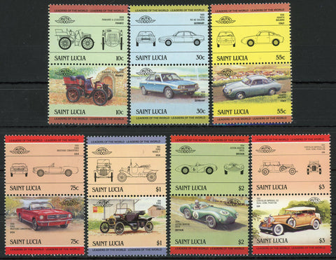 Ford Mustang Aston Martin Abarth Serie Set of 7 Blocks of 2 Stamps MNH