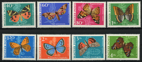 Hungary Butterfly Mormonia Sponsa Charaxes Serie Set of 8 Stamps MNH