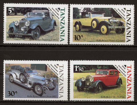 Automobile Anniversary Rolls Royce Serie Set of 4 Stamps MNH