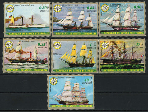 Sailing Ship Savannah La Bella Gallina El Sirius Serie Set of 7 Stamps MNH