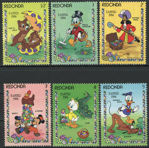 Easter 1984 Disney Cartoons Donald Duck Pluto Louie Serie Set of 6 Stamps MNH