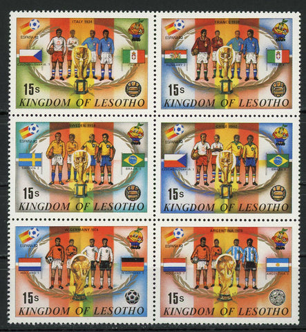 Soccer Championship Football Cup Sport Block of 6 Stamps MNH