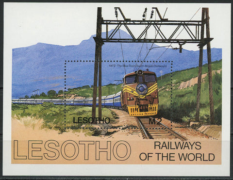 Railways of the World The Blue Train Souvenir Sheet S/S MNH
