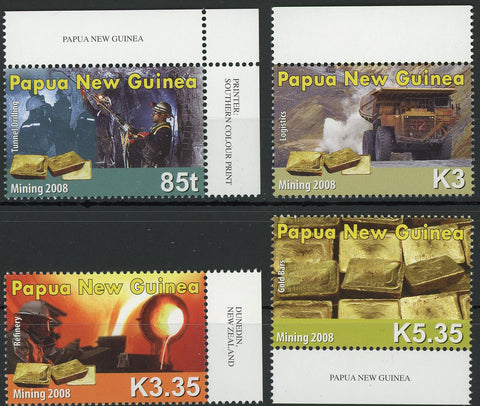 Mining Refinery Pit Minerals Serie Set of 4 Stamps MNH