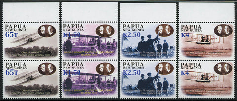 Orville Wright Flight Pilot Aviation Set of 4 Pairs, 8 Stamps MNH