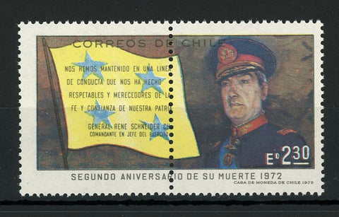 Chile Stamp General Rene Schneider Army Military Individual MNH