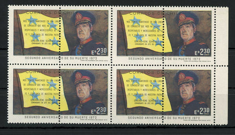 Chile Stamp General Rene Schneider Army Military Block of 4 MNH