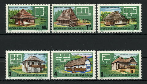 Romania Traditional Architecture House Nature Serie Stamp Set of 6 MNH