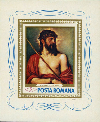 Romania Jesus Christ Stamp Ecce Homo by Titian V. Tiziano 1968 Art Paint MNH