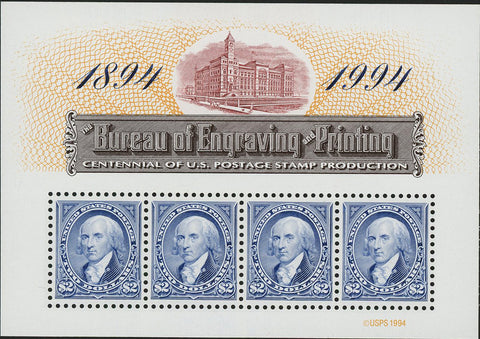 USA Stamp The Bureau of Engraving and Printing Postage Stamp Production Souvenir
