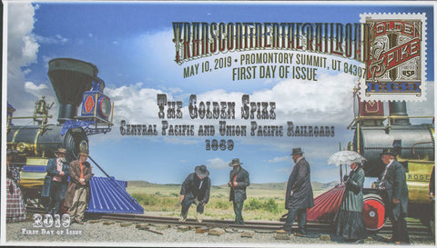 Transcontinental Railroad The Golden Spike Union Pacific FDC First Day Issue