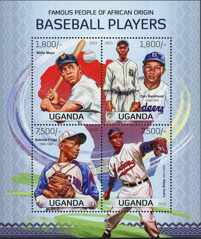 Baseball African Players Stamp Willie Mays Souvenir Sheet of 4 Mint NH