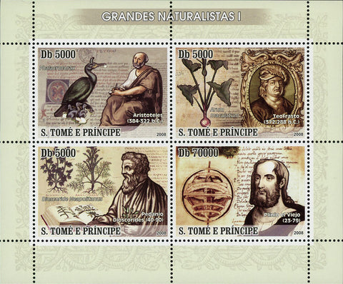 Naturalists Stamp Naturalism Nature Souvenir Sheet of 4 Mint NH