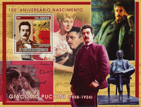 Giacomo Puccini Stamp Opera Composer Famous People Souvenir Sheet Mint NH