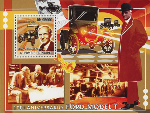Ford Model T Stamp Henry Ford Car Automobile Souvenir Sheet Mint NH
