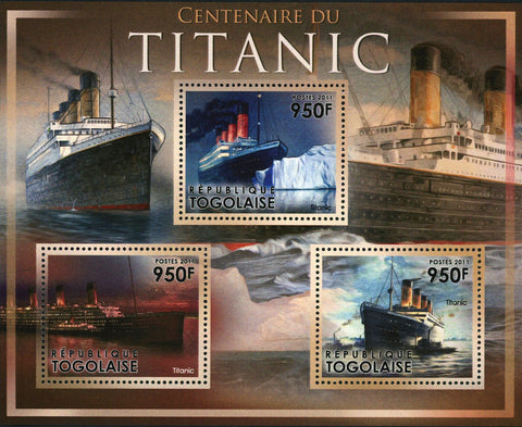 Titanic Stamp Cruise Transportation Historical Events Souvenir Sheet Mint NH
