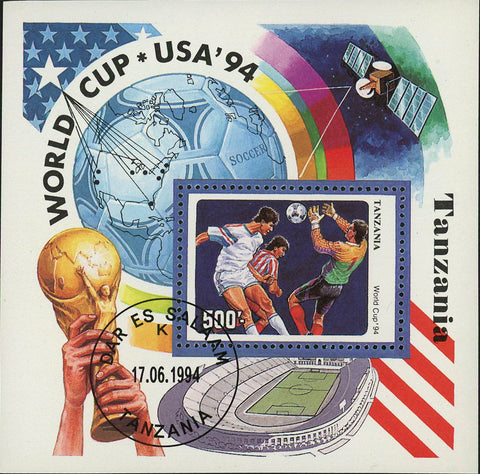 Soccer Stamp World Cup USA '94 Sport Souvenir Sheet