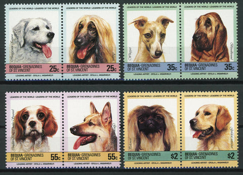 Dog Stamp Cocker Spaniel Golden Retriever Pet Animal Serie Set MNH
