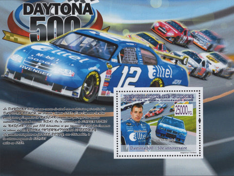 Daytona 500 Ryan Newman Dodge Racing cars Souvenir Sheet MNH