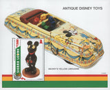 Sierra Leone Antique Disney Toys Mickey's Yellow Limousine Souvenir Sheet MNH