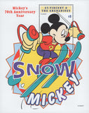 St. Vincent Snow Mickey Anniversary Disney Skiing Souvenir Sheet Mint NH