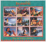 Guyana Disney Pocahontas Film Necklace Souvenir Sheet of 8 Stamps MNH