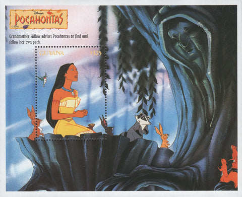 Guyana Pocahontas Grandmother Willow Disney Souvenir Sheet MNH