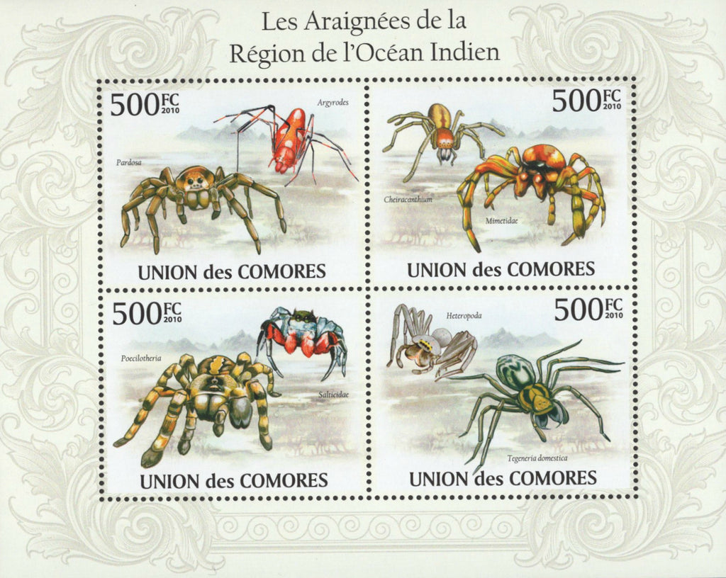 Spider Souvenir Sheet Mint NH