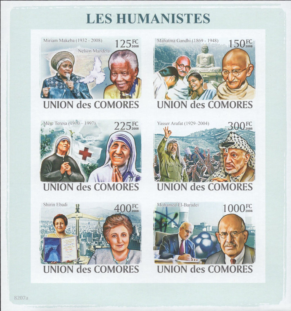 Humanists Famous People Mother Teresa Mahatma Gandhi Leaders Imperforate