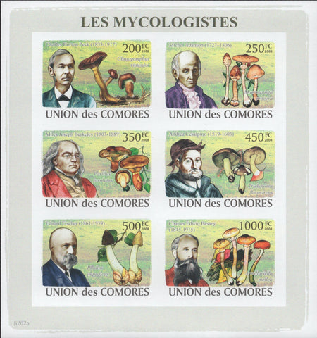 Mycologists Fungi Mushrooms Plants Nature Science Souvenir Sheet MNH