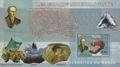 Famous Mineralogist Stamp Diamond Sov. Sheet MNH