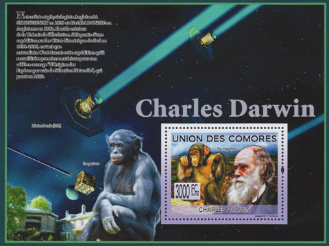 Charles Darwin Evolution Theory Physiologist Souvenir Sheet Mint NH