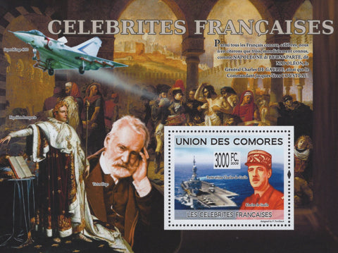 Comoros French Celebrities Famous Napoleon Bonaparte Souvenir Sheet Mint NH
