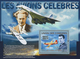 Famous Airplanes Concorde Pilot Souvenir Sheet Mint NH