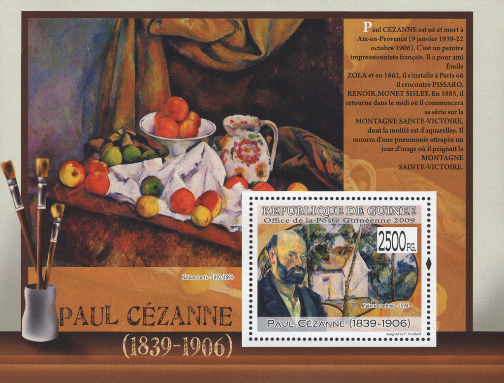 Famous Painter Paul Cezanne Souvenir Sheet Mint NH