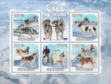 Sled Dogs Snow Husky Samoyed Souvenir Sheet Mint NH