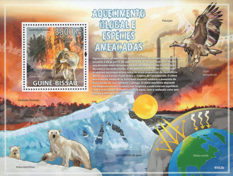 Global Warming and Endangered Species Souvenir Sheet Mint NH