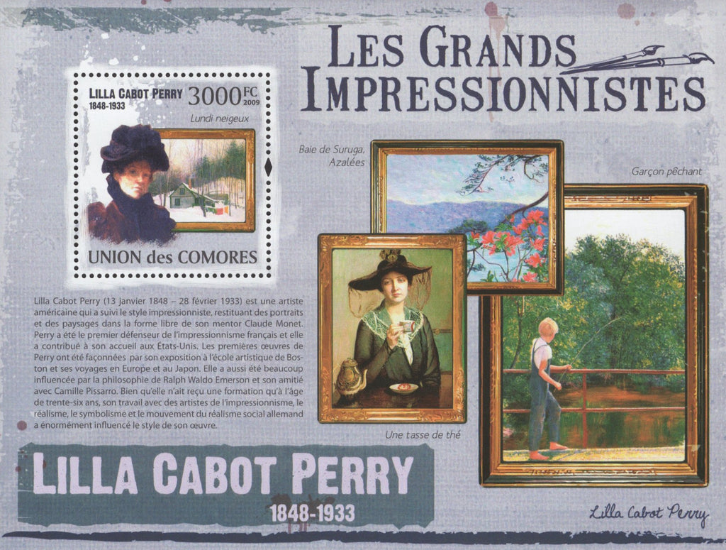 Famous Impressionist Lilla Cabot Perry Souvenir Sheet MNH