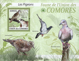 Fauna Pigeons Birds Souvenir Sheet Mint NH
