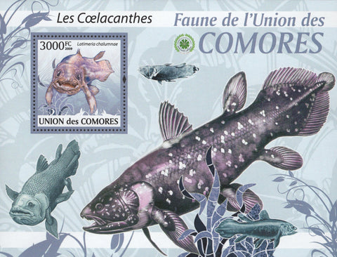 Coelacanth Fauna Fish Souvenir Sheet Mint NH