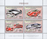 Ferrari Stamp Cars Transportation Luxury Racing Souvenir Sheet of 4 Stamps MNH