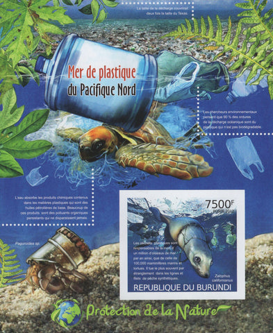 Pacific Plastic Sea Contamination Imperforated Sov. Sheet MNH