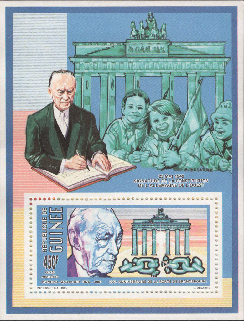 German Constitution Signature Anniversary Sov. Stamp MNH