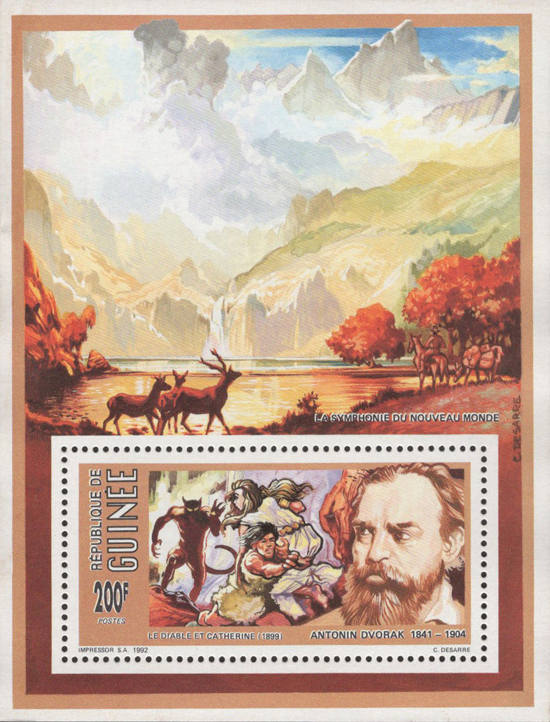 Famous Painter Antonin Dvorak Sov. Sheet Mint NH